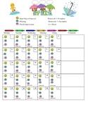 April Daily Behavior Chart