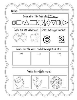 April: Daily Common Core Practice for Kindergarten