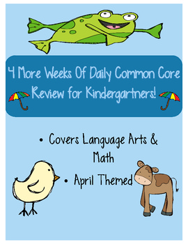 April: Daily Common Core Practice for Kindergarten