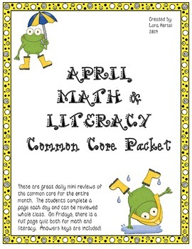 April Daily Common Core Practice for Third Grade Language and Math Skills