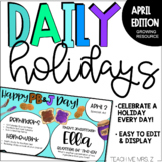 April Daily Holiday Slides