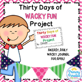 April Daily Journal: 30 Days of Wacky Fun: Print, Cut, Go!