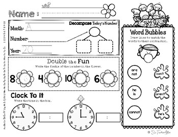 April Daily Literacy & Math Morning Work {Kindergarten & First Grade} No Prep!