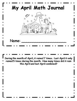 April Daily Math Journal