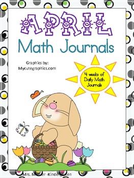 April Daily Math Journals CCSS