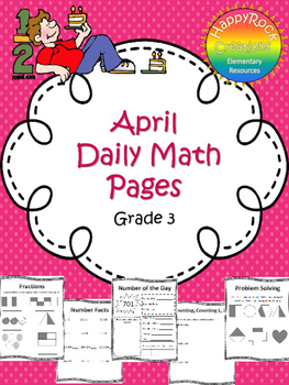 April Daily Math Pages (Focus on Fractions)