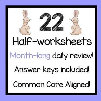 April Daily Math Review 5th Grade Common Core