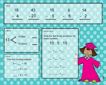 June Daily Math Warm-Up (1st Grade Common Core)