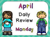 April Daily Skills Review PowerPoints for Kindergarten~ Great for Calendar Time!