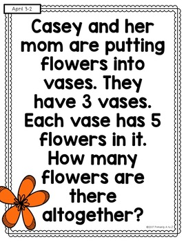 April Daily Word Problems {Second Grade}