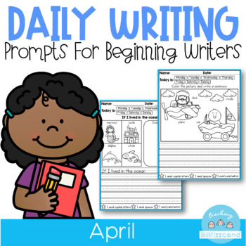 April Daily Writing Prompts for Beginning Writers