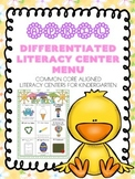 April Differentiated Literacy Center Word Work Menu (Commo