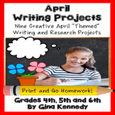 April Creative Writing Projects for Upper Elementary Students