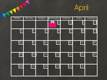 April Digital Calendar