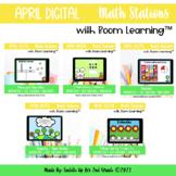 April Digital Math Stations l Task Cards | Boom Cards™