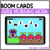 April Digital Morning Work | Kindergarten Boom Cards™