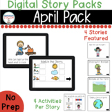 April Digital Story Packs  (Boom Learning Included)