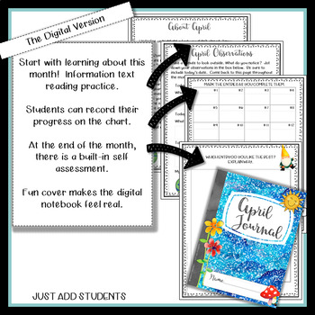 April  Digital Writing Journal for  Google Drive or OneDrive