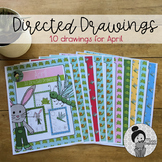 Easter Art Activities Spring (April Directed Drawings)