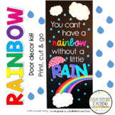"""April Door Decoration Kit - """"You Can't Have A Rainbow Without A Little Rain"""""""