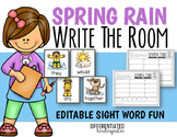 April EDITABLE Sight Word Write the Room Fun - Differentia