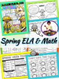 Spring Activities ELA and Math Printables | Spring Break Packet