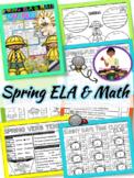 Spring Activities ELA and Math Printables | Spring Break Packet