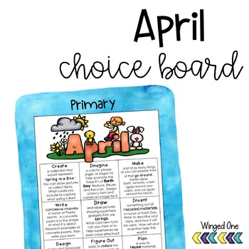 April Early Finishers Choice Board