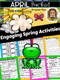 April Early Finishers Packet   Distance Learning   2nd Grade   Reading Comprehen
