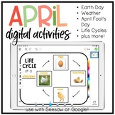 April + Earth Day Digital Templates and Activities!