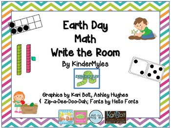 April - Earth Day Math Write the Room