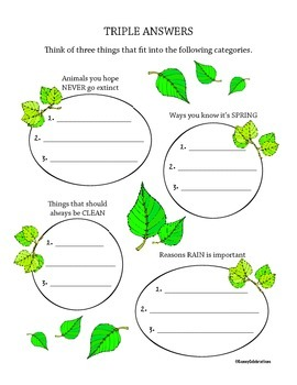 April / Earth Day Printable Activities Fun Pack