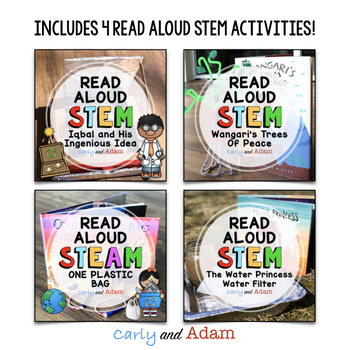 April READ ALOUD STEM™ Activities and Challenges BUNDLE Distance Learning