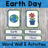 April - Earth Day - Word Wall Words and Puzzle Activity -