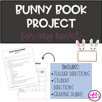 April Easter Bunny Book Report for ANY Novel