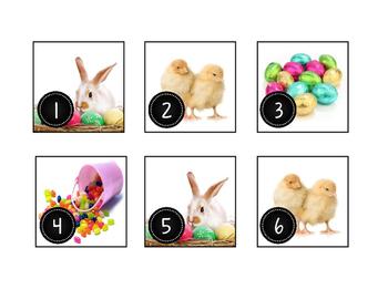 April Easter Calendar Cards-Real Photos