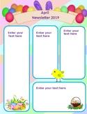 April Easter Newsletter Editable