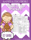 April (Easter) PRINT and GO Packet [1st Grade]