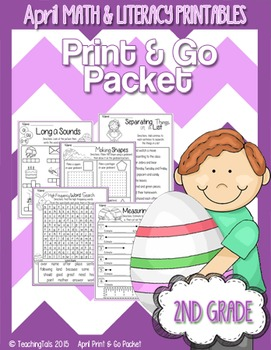 April (Easter) PRINT and GO Packet [2nd Grade]