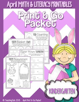 April (Easter) PRINT and GO Packet [Kindergarten]