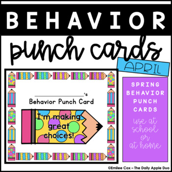 April / Easter Positive Behavior Punch Cards