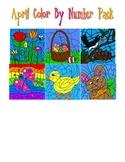 April - Easter - Spring Color by Number Pack