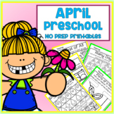 April Easter Spring Preschool Printable Packet NO PREP - All Subjects