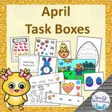 April Easter Task Boxes - Literacy, Math, Basic Skills, Fine Motor