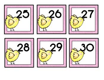 April Easter Themed Calendar Cards