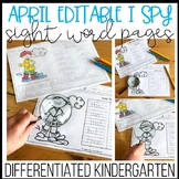 Editable I Spy Sight Word Pages - April