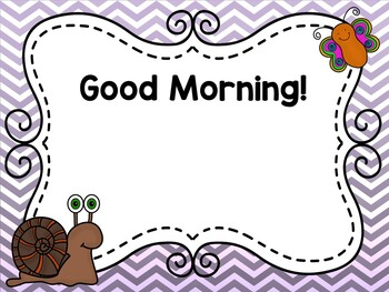 April Editable Morning Message