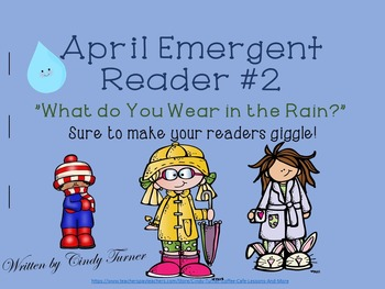 April Emergent Reader #2 Print and Go!