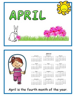 April Emergent Reader Flip Book