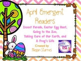 April Emergent Reader Mini-books (five readers)